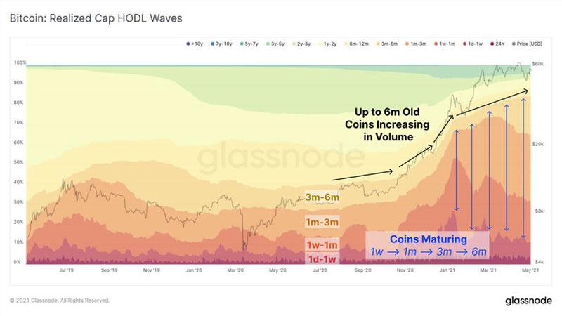 نمودار امواج هودل بیت کوین   همتاپی