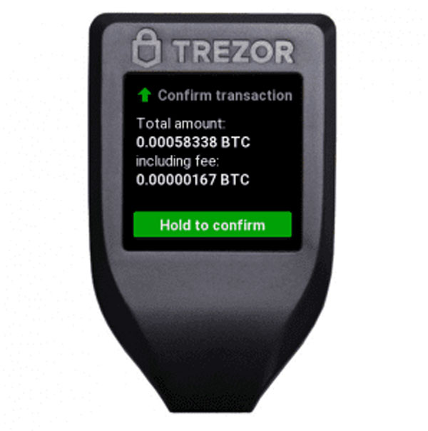 تایید نهایی ارسال رمزارز از کیف پول Trezor