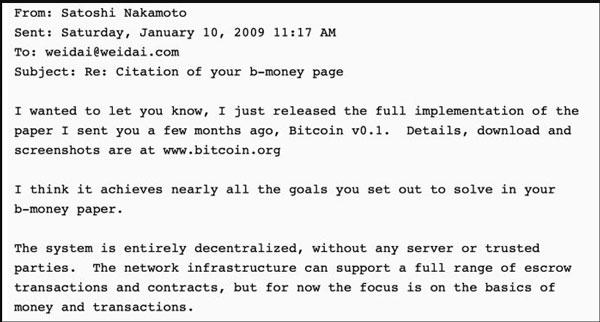 Gwern.net چند ایمیل ارسال شده به دای در سال 2008 را ثبت کرده است