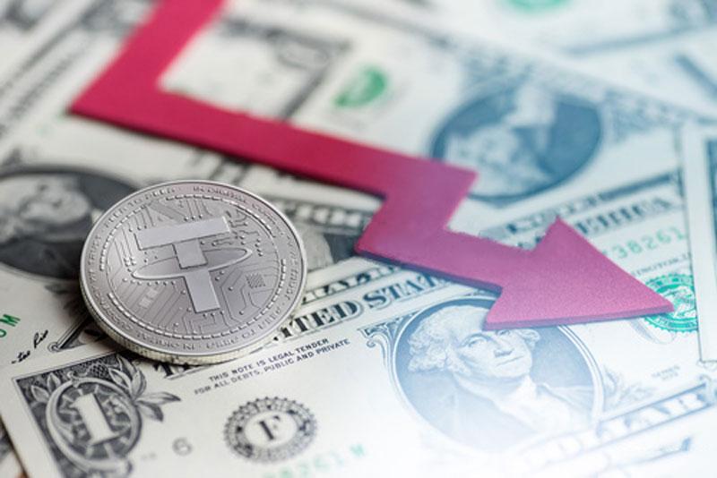 سطح ارز باثبات تتر (Tether) به کمتر از 80% افت کرده است | همتاپی