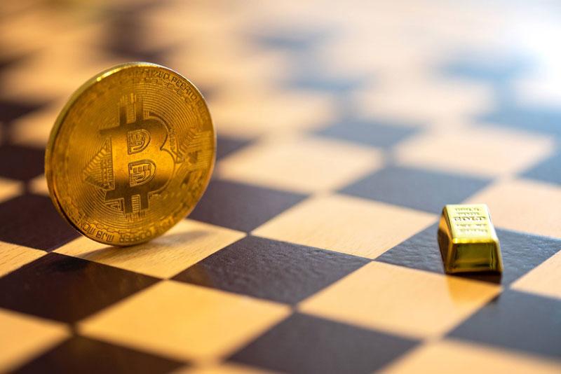 احتمال افزایش قیمت بیت کوین در پی خارج شدن سرمایه از بازار طلا به بیتکوین   همتاپی